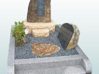 自然風でシンプルさを追及したデザイン墓