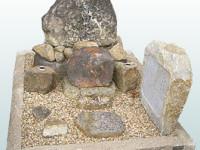 自宅の庭石でご先祖様を表現