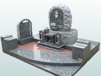 自然石とのツートンを表現したデザイン墓